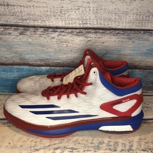 ADIDAS CRAZYLIGHT BOOST USA WHITE ROYAL BLUE RED